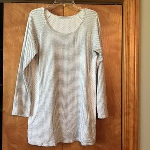 Cotton white and gray tunic by Cut-Loose